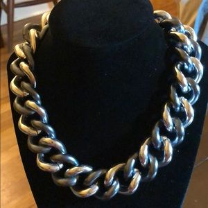 Jewelry - Chunky chain black and silver necklace